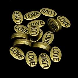 Perle Love bronze 10 mm (5 pièces)